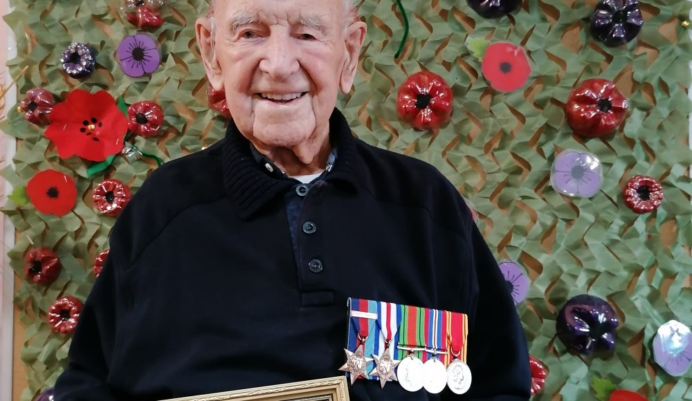 Joe Dixon Remembrance Day with medals