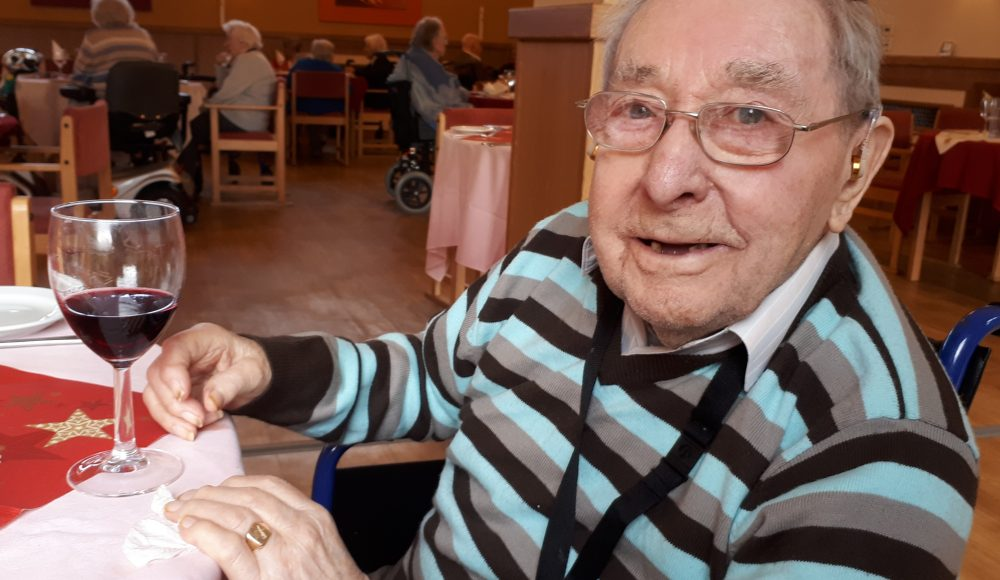 Resident Ron Putt celebrates his 100th birthday at Lord Harris Court