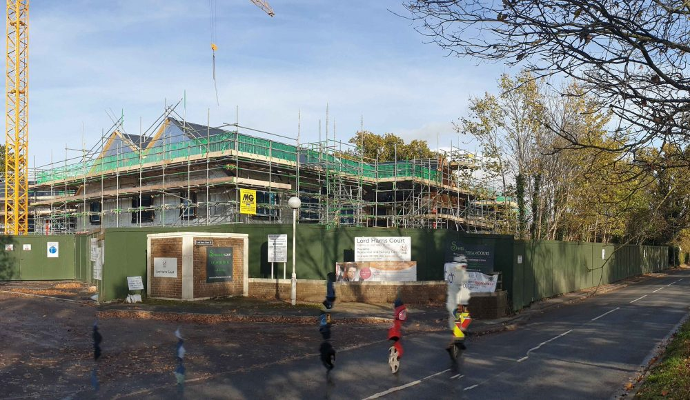 New care home build progress at Lord Harris Court