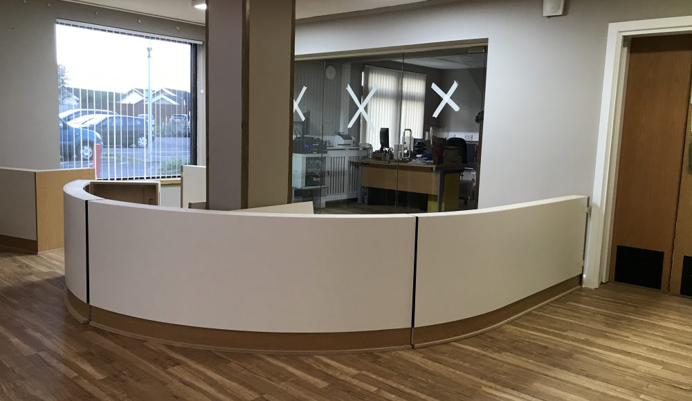 AEPOW reception area in progress