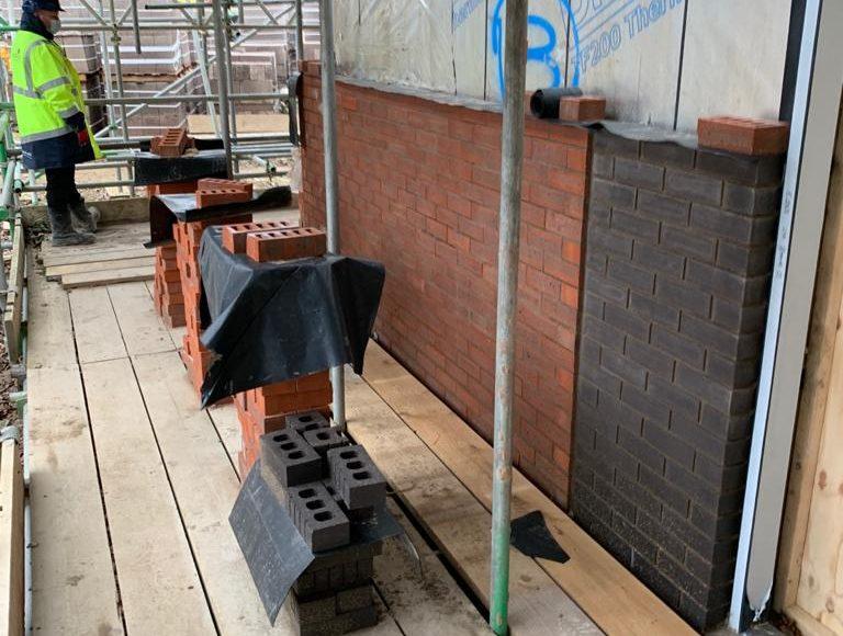 Contrasting external brick work