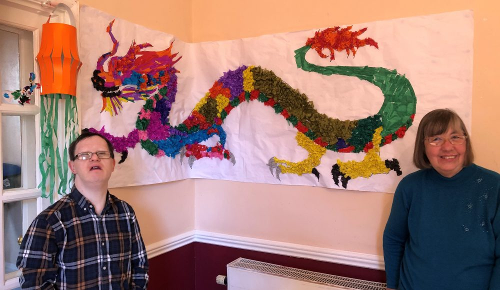 Residents Lee Balmer and Denise Broadbent celebrating Chinese New Year