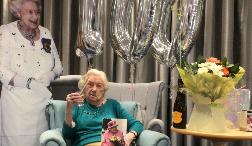 Connaught Court resident, Barbara Knowles, celebrates her 100th birthday at the Home