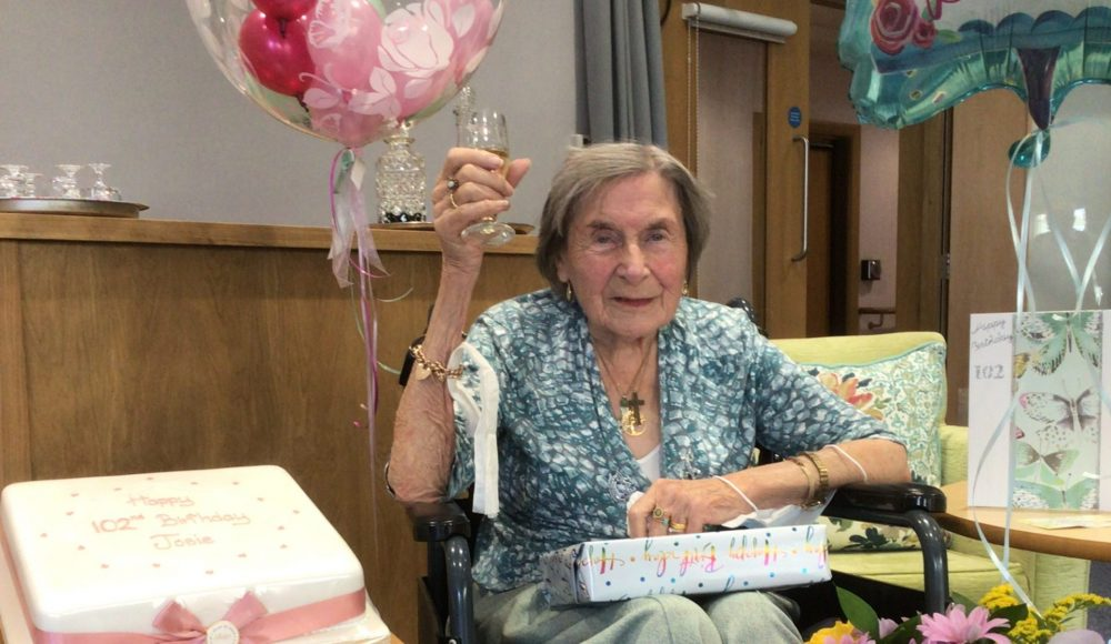 RMBI Home Connaught Court resident, Josie Kirk, celebrates her 102nd birthday.