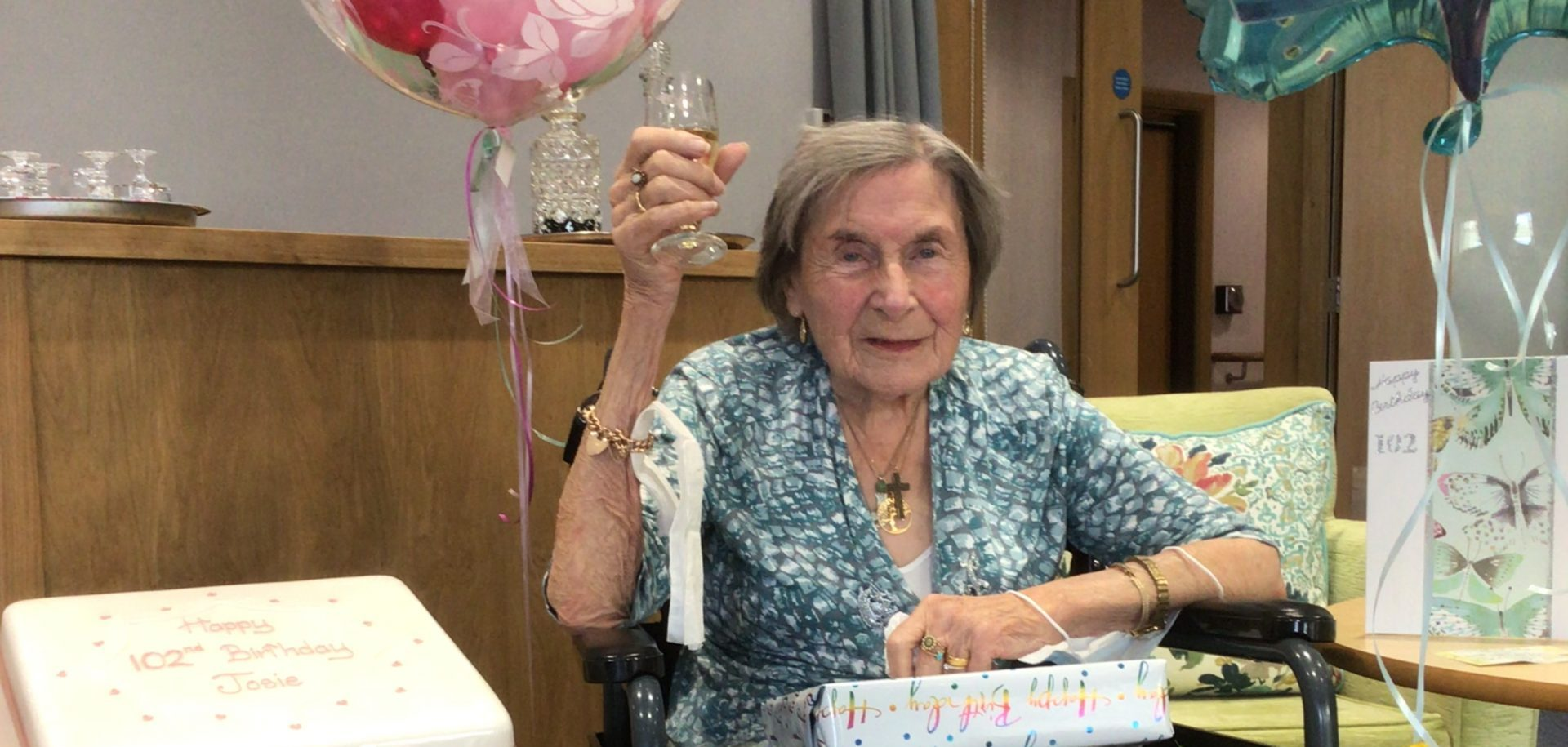 RMBI Home Connaught Court resident, Josie Kirk, celebrates her 102nd birthday.