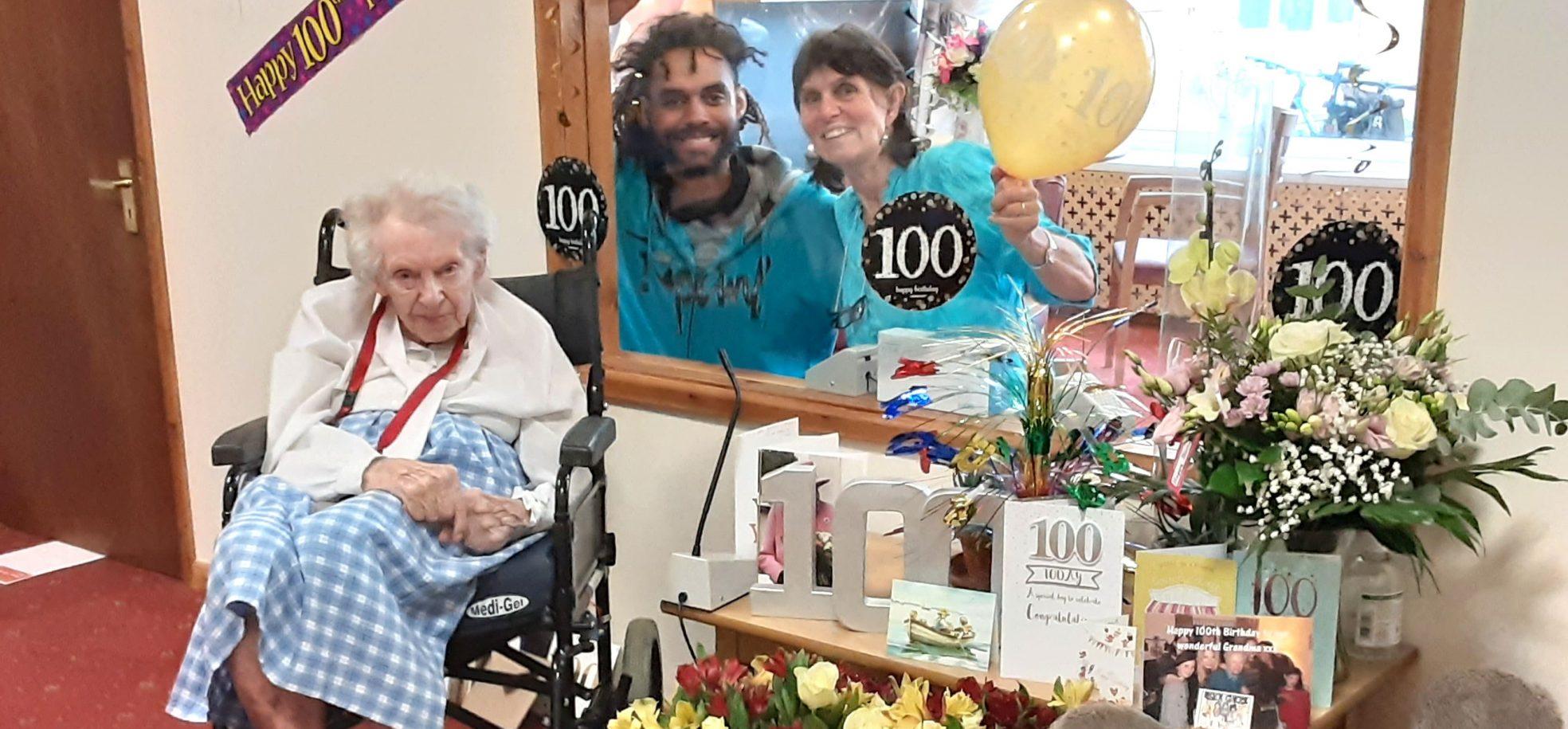 Margaret Bradley with her daughter Meriel and her grandson Jonathan