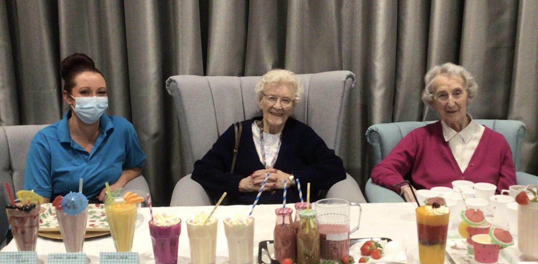 Connaught Court - Doris, Isobel and Kim