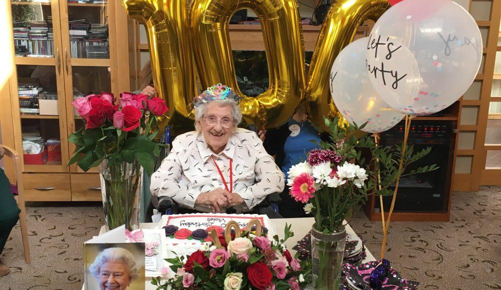 Violet Dudgeon celebrates 100th birthday