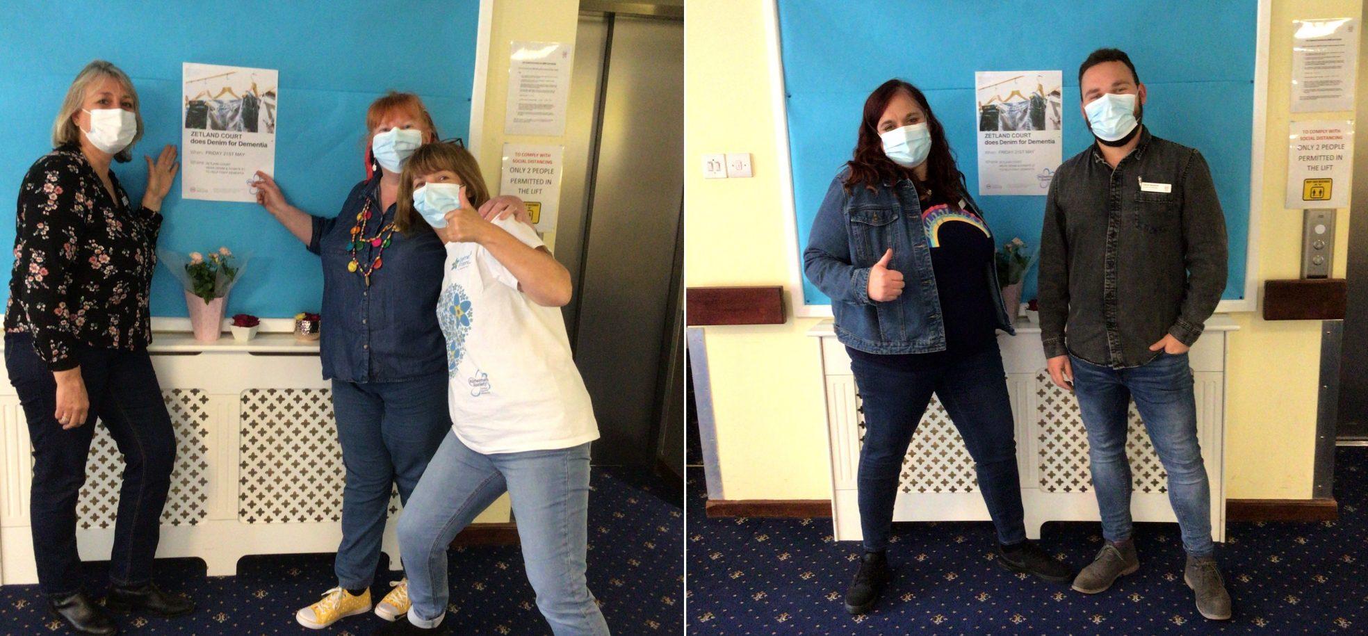 Staff members wear denim for dementia