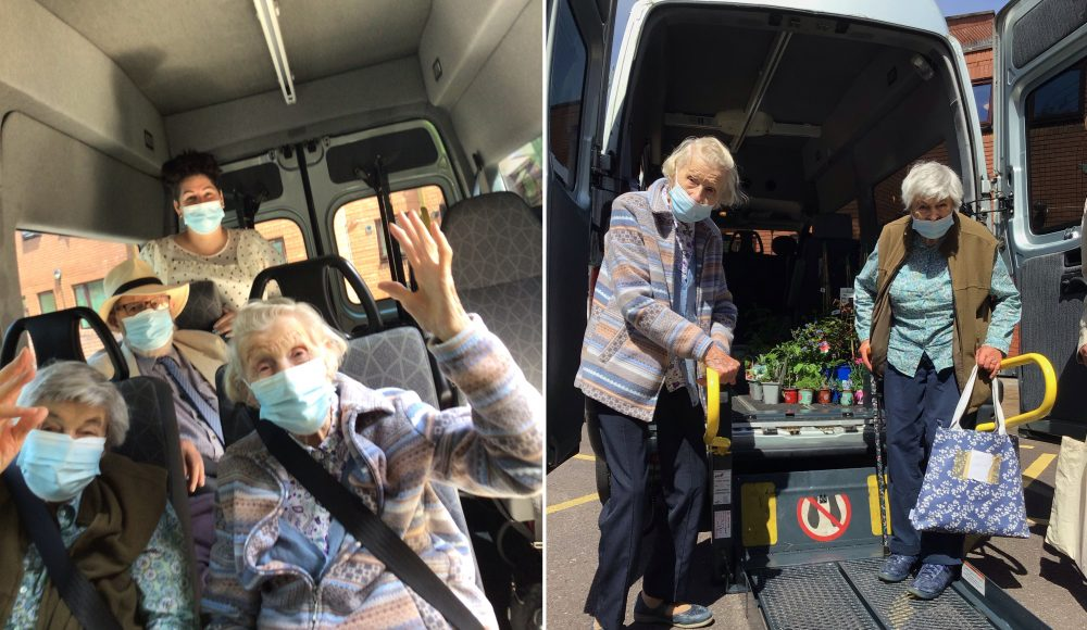 Residents from RMBI Home Cadogan Court, in Exeter, share their excitement