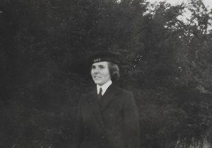 Nina Ansell in her Wren uniform during World War Two.